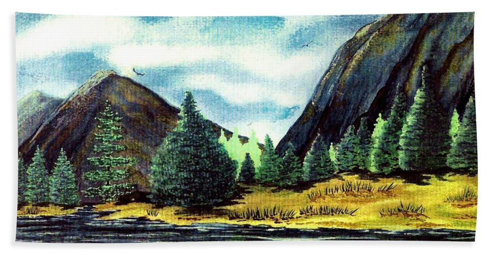 Fine Art Hand Towel featuring the painting Solitude by Patricia Griffin Brett