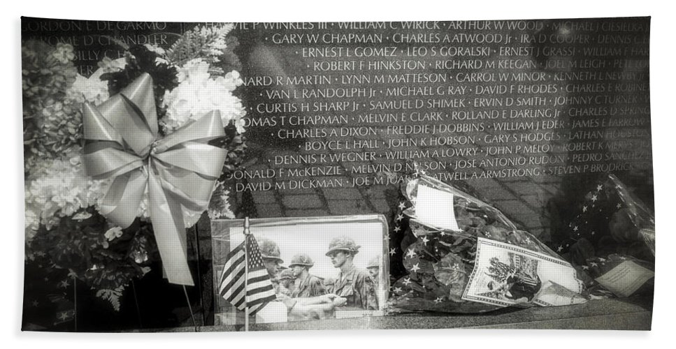 Vietnam Veterans Memorial Hand Towel featuring the photograph Some Gave All by Sennie Pierson