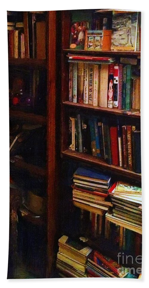 Books Bath Towel featuring the painting Some Of My Best Friends by RC DeWinter