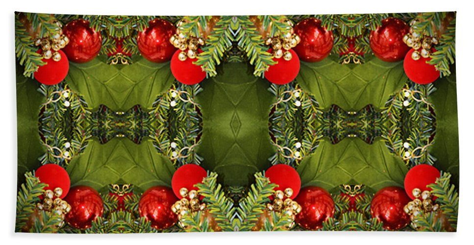 Christmas Colors Hand Towel featuring the photograph Some Of The Colors Of Christmas Altered Version by Jim Fitzpatrick