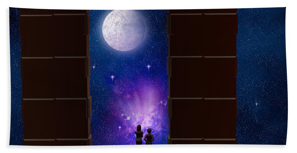 Arches Bath Sheet featuring the digital art The View To Infinity by Carol and Mike Werner