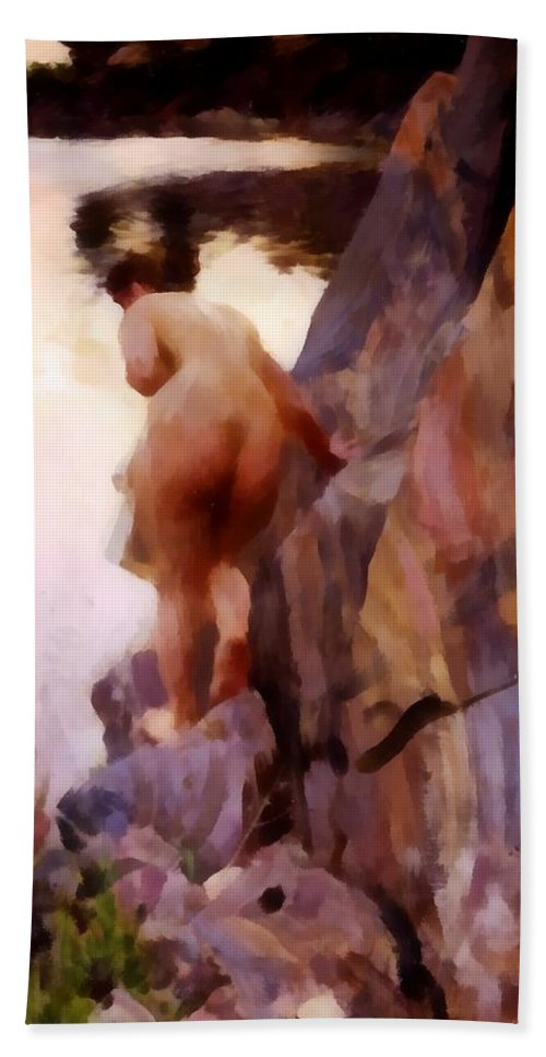 Anders Zorn Bath Sheet featuring the digital art Sommerabend by Anders Zorn