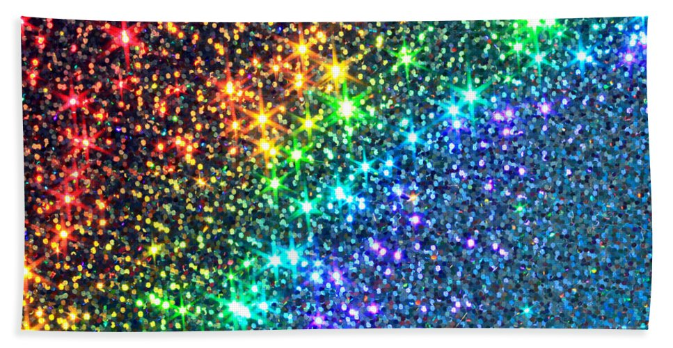 Abstract Hand Towel featuring the photograph Song Of The Stars by Dazzle Zazz