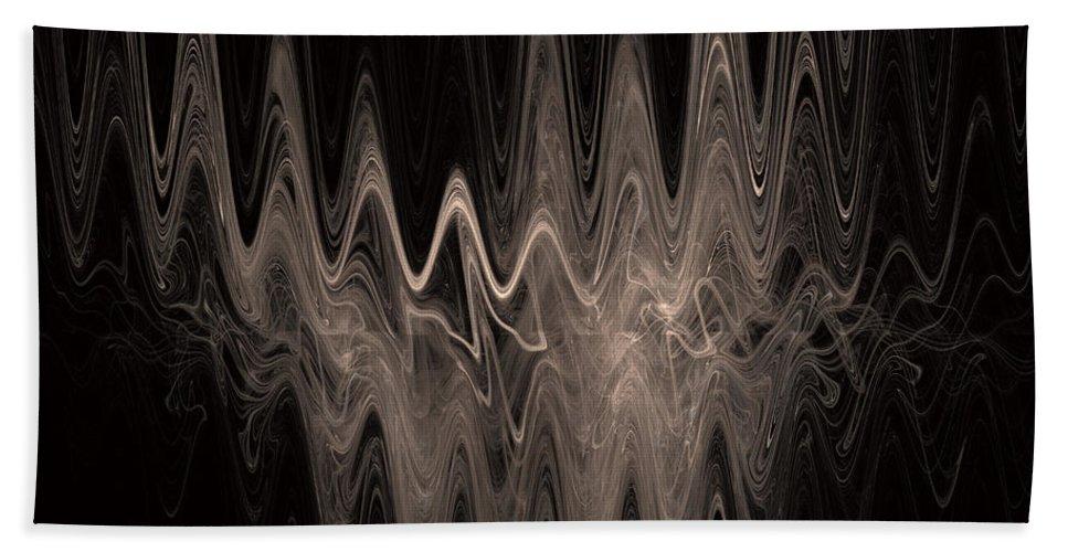 Fractal Art Hand Towel featuring the digital art Sound Waves by David Ridley