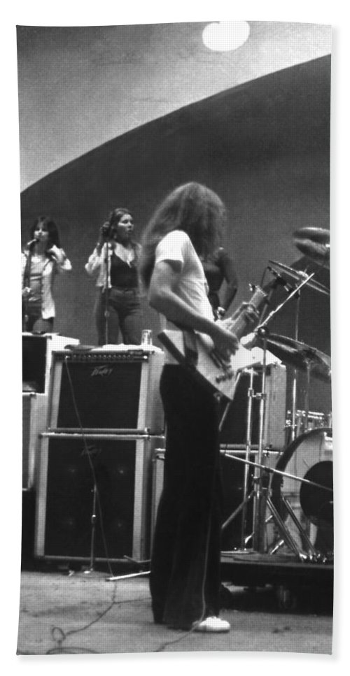Lynyrd Skynyrd Hand Towel featuring the photograph Soundcheck #8 Crop 2 by Ben Upham