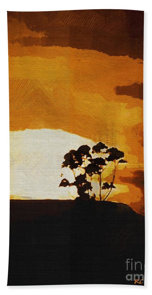 Clouds Hand Towel featuring the painting South African Sky by RC DeWinter