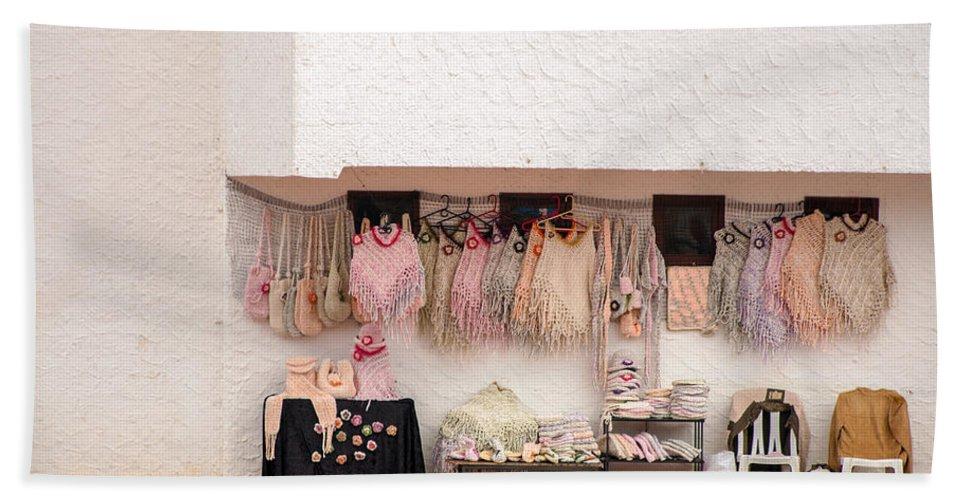 Souvenir Hand Towel featuring the photograph South American Souvenirs by Jess Kraft