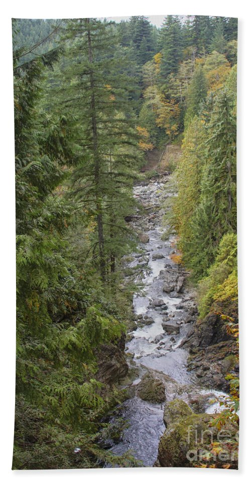 Landscape Bath Sheet featuring the photograph south fork Snoqualmie river by Darleen Stry