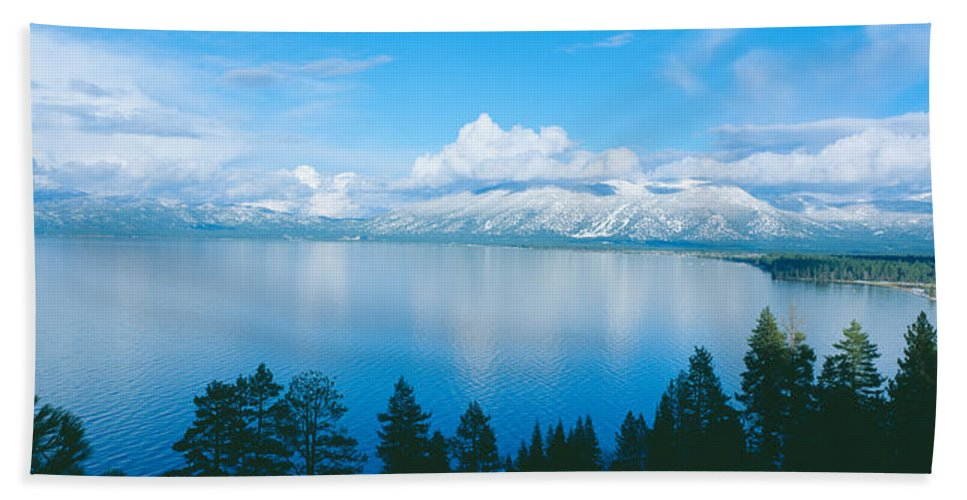 Photography Bath Sheet featuring the photograph South Lake Tahoe In Winter, California by Panoramic Images