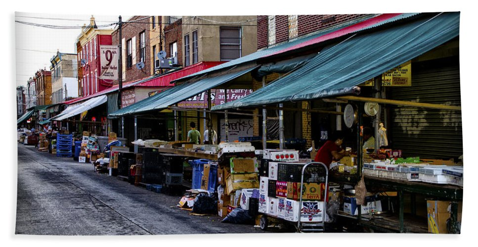 South Bath Sheet featuring the photograph South Philly Italian Market by Bill Cannon