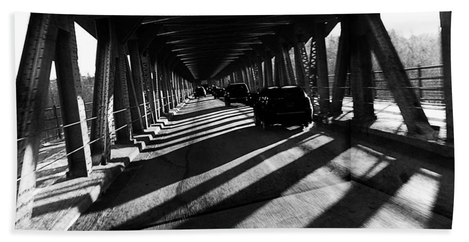 Bridge Hand Towel featuring the photograph South Side by The Artist Project
