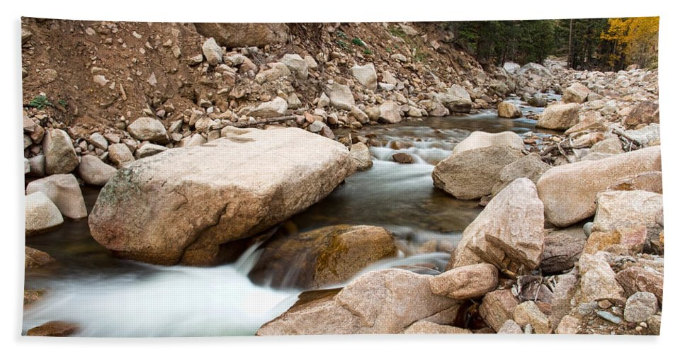 Canyons Bath Sheet featuring the photograph South St Vrain Canyon Autumn View by James BO Insogna