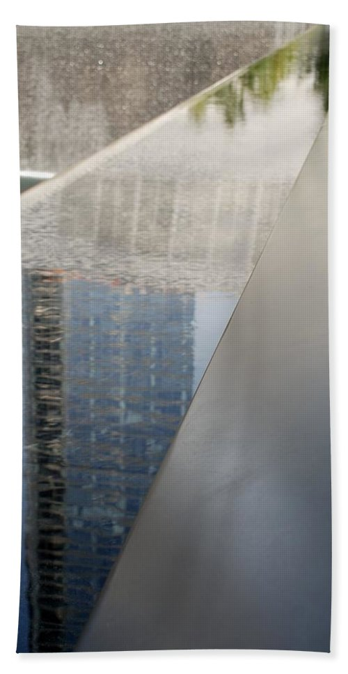 Wtc Hand Towel featuring the photograph South Tower Reflections by Rob Hans