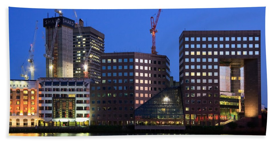 Great Britain Hand Towel featuring the photograph Southbank In London. by Milan Gonda