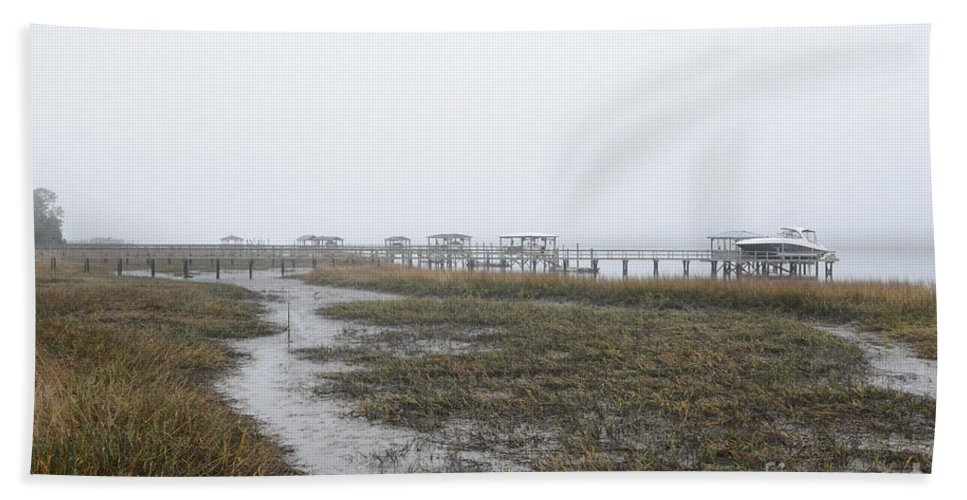 Fog Bath Sheet featuring the photograph Southern Ebb And Flow by Dale Powell