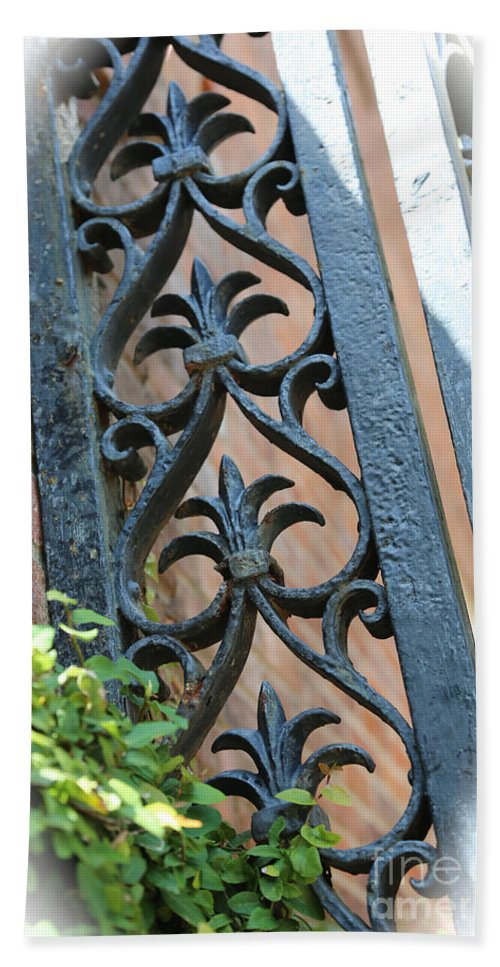 Ironwork Hand Towel featuring the photograph Southern Ironwork by Carol Groenen