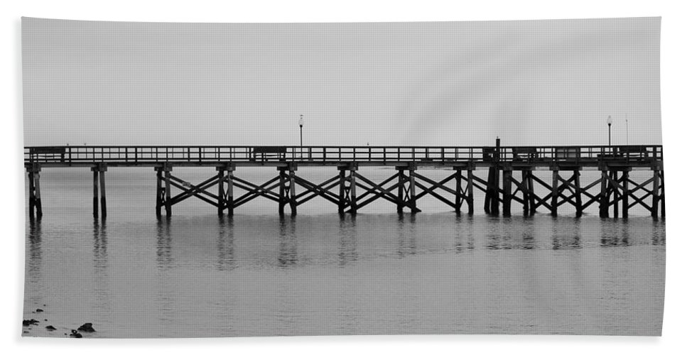 Southport Bath Sheet featuring the photograph Southport Fishing Pier by Cynthia Guinn