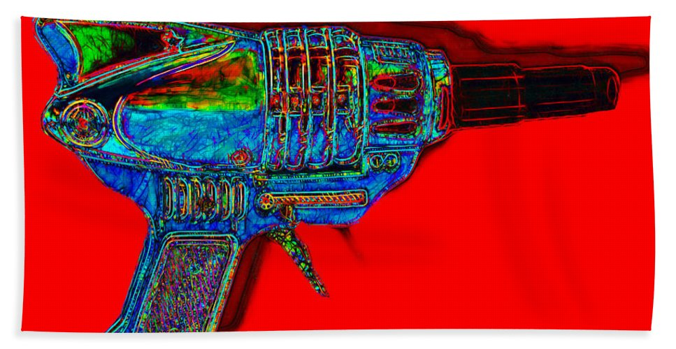 Spacegun Bath Towel featuring the photograph Spacegun 20130115v1 by Wingsdomain Art and Photography