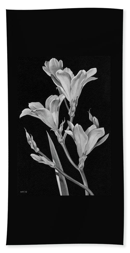 Sparaxis Flowers Bath Towel