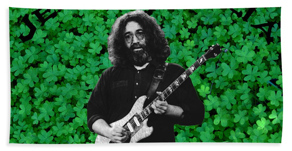 Jerry Garcia Bath Sheet featuring the photograph Sparkling Clover by Ben Upham