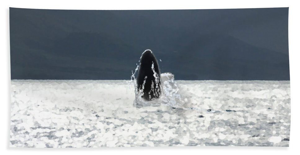 Whale Hand Towel featuring the photograph Sparkling by Marcello Cicchini