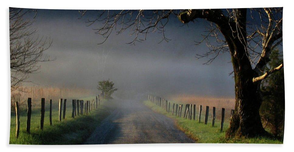 Lane Bath Sheet featuring the photograph Sparks Lane Sunrise II by Douglas Stucky