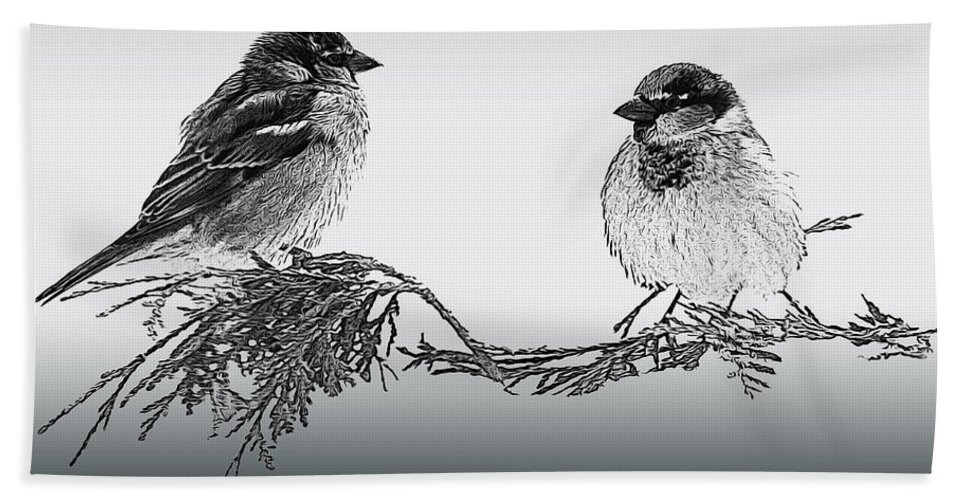 Sparrow Bath Sheet featuring the photograph Sparrow Digital Art by Jayne Gohr