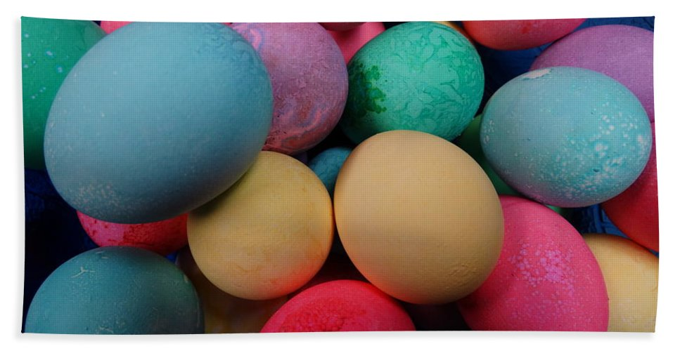 Speckled Hand Towel featuring the photograph Speckled Easter Eggs by Joseph Baril
