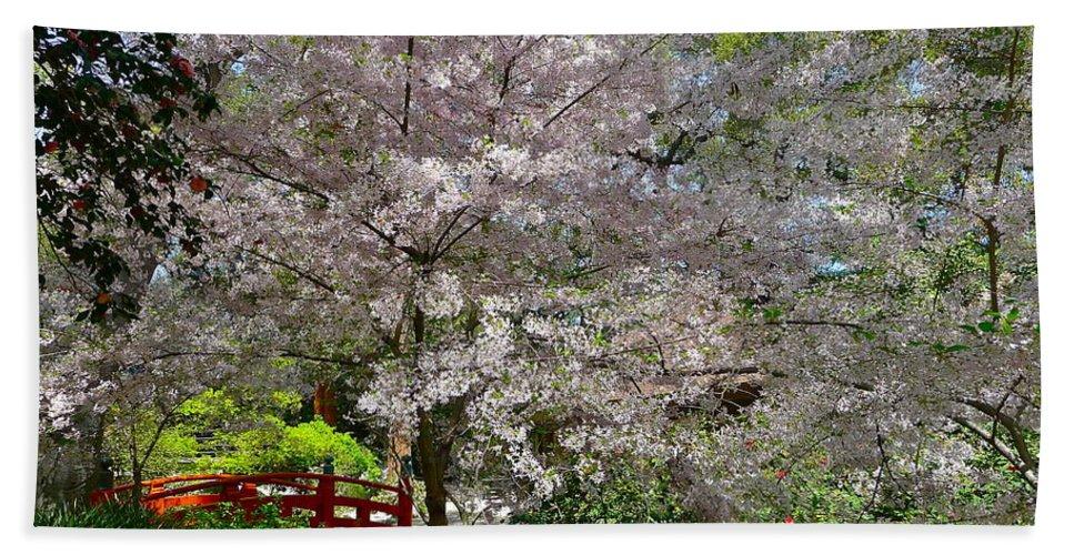 Garden Bath Sheet featuring the photograph Spectacular Japanese Garden by Denise Mazzocco