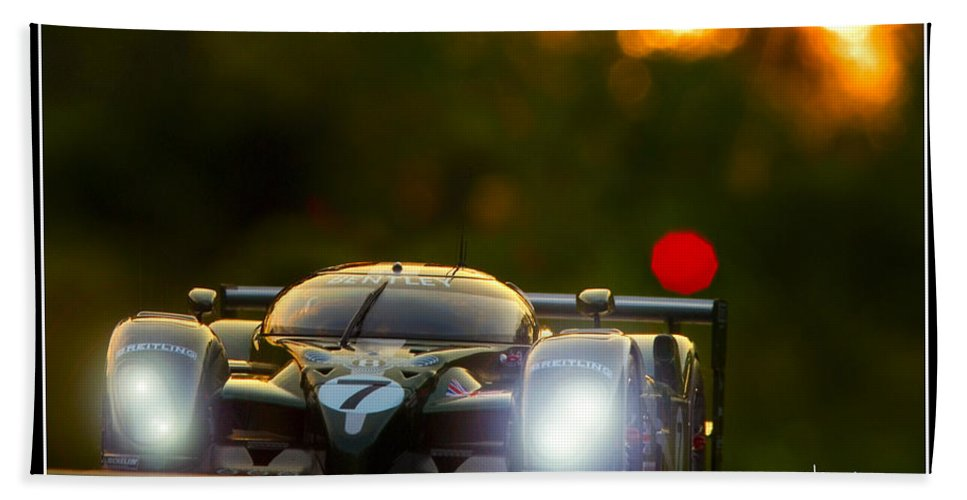 Bentley Bath Sheet featuring the photograph Speed 8 At Sunset by Craig Purdie