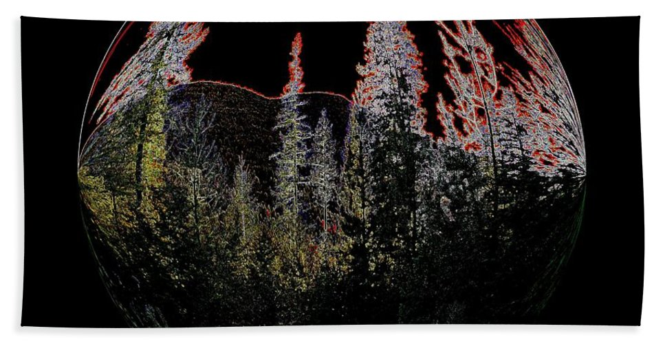 Abstract Bath Sheet featuring the photograph Spherescape 2 by Jeff Swan