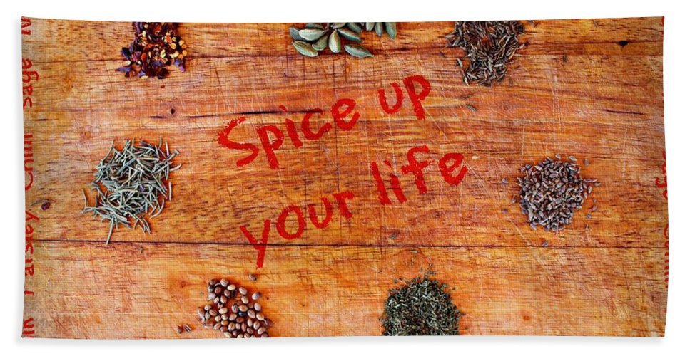Herbs Hand Towel featuring the photograph Spice Up Your Life by Clare Bevan