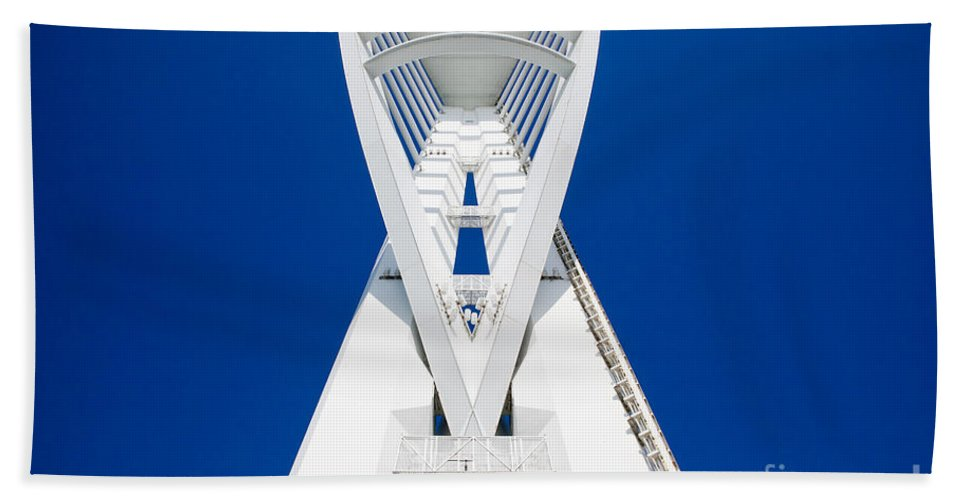 Spinnaker Hand Towel featuring the photograph Spinnaker Tower Portsmouth Uk by Simon Bratt Photography LRPS