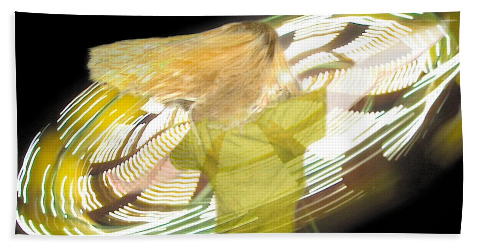 Hair Hand Towel featuring the digital art Spinning By Jan Marvin by Jan Marvin