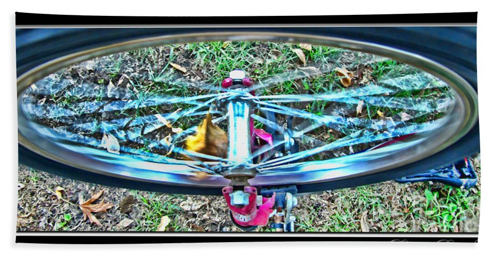 Wheel Bath Sheet featuring the photograph Spinning Round by Debbie Portwood