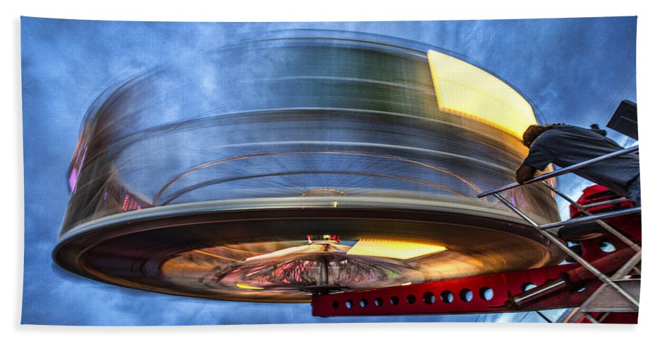 County Fair Hand Towel featuring the photograph Spinning Up The Universe by Diana Powell