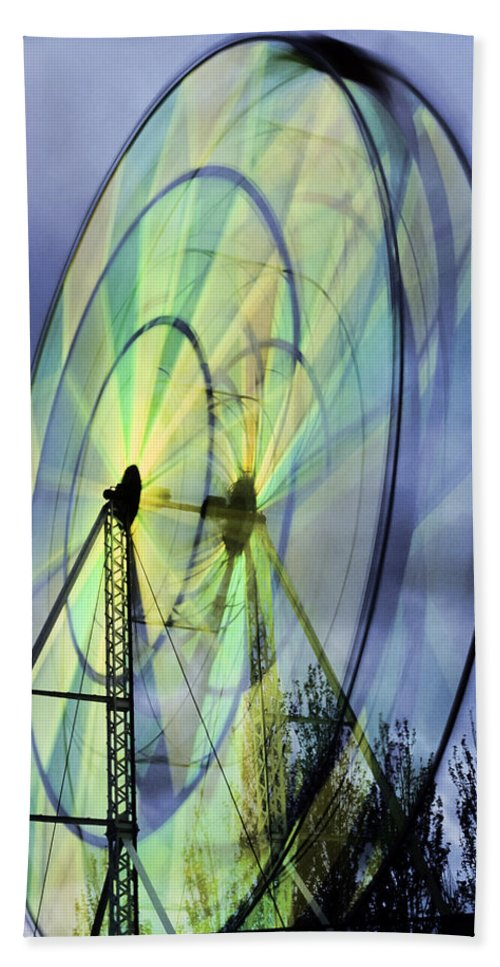 Spinning Hand Towel featuring the photograph Spinning Wheel by Kelley King