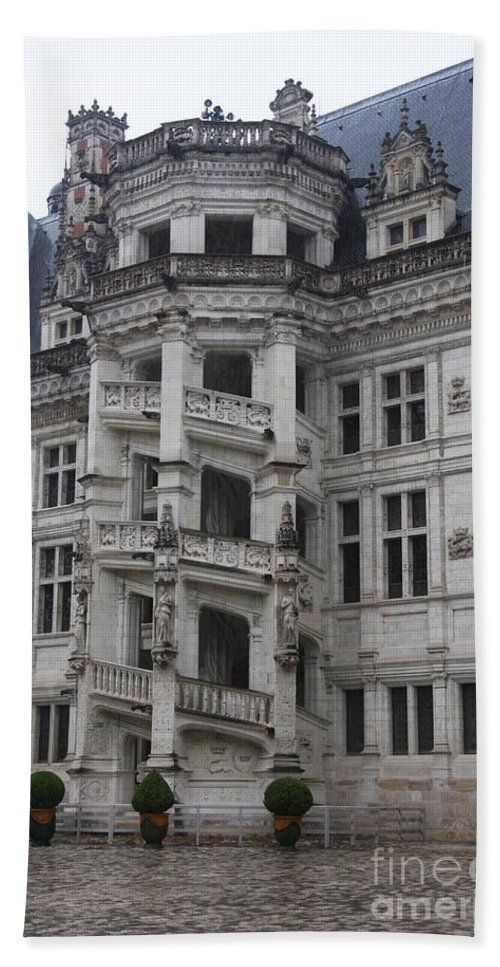 Stairs Bath Sheet featuring the photograph Spiral Staircase Chateau Blois by Christiane Schulze Art And Photography