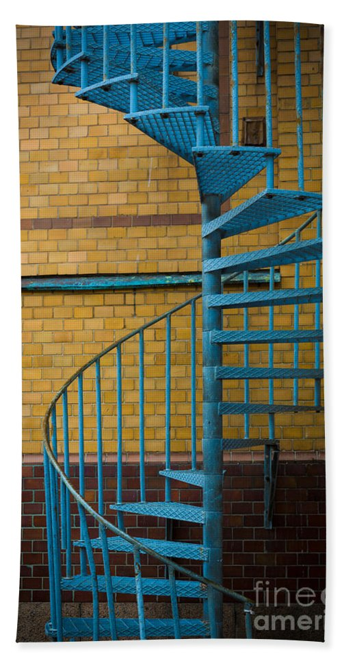 Europe Bath Sheet featuring the photograph Spiral Staircase by Inge Johnsson
