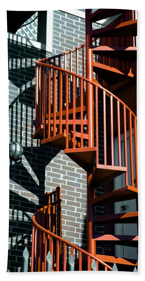 Art Hand Towel featuring the photograph Spiral Stairs - Color by Darryl Dalton