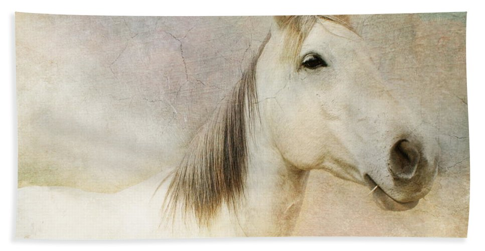 Horse Hand Towel featuring the photograph Spirit Horse by Terry Fleckney