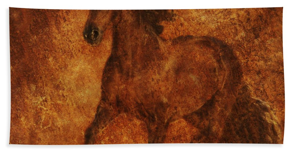 Chinese Horse Art Hand Towel featuring the photograph Spirit by Melinda Hughes-Berland