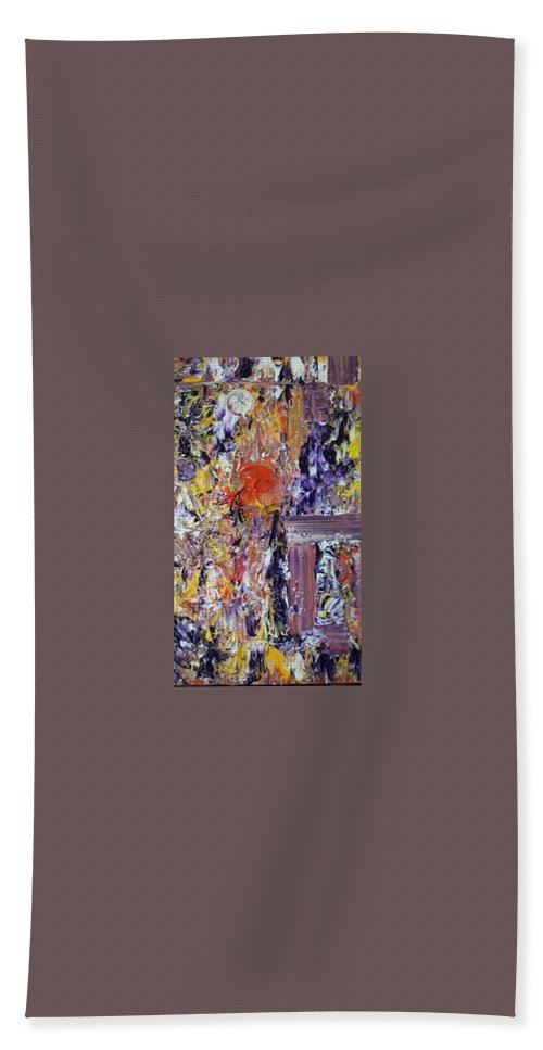 Abstract Bath Sheet featuring the painting Spirits by Soraya Silvestri