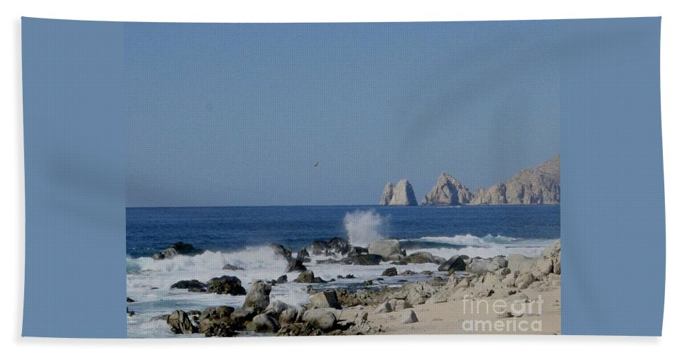 Blue Hand Towel featuring the photograph Splash by Christy Gendalia