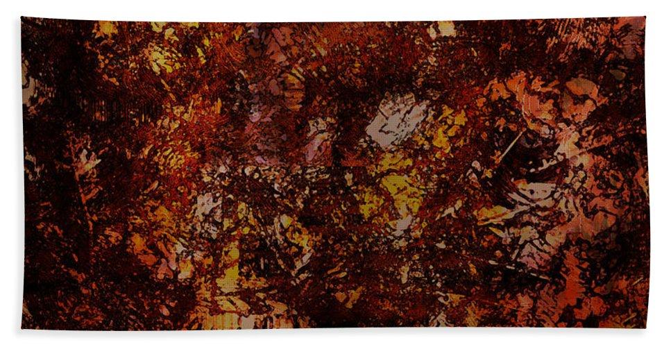 Fall Bath Sheet featuring the digital art Splattered by James Barnes