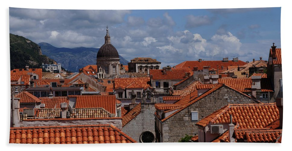 Dubrovnik Bath Sheet featuring the photograph Splendor Of Dubrovnik 1 by Bob Christopher