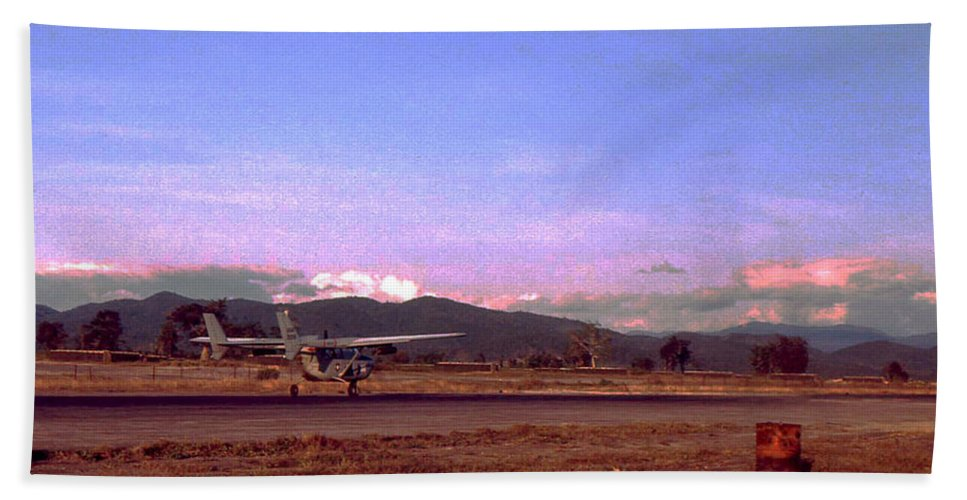 Vietnam Hand Towel featuring the photograph Spotter Plane by Norman Johnson