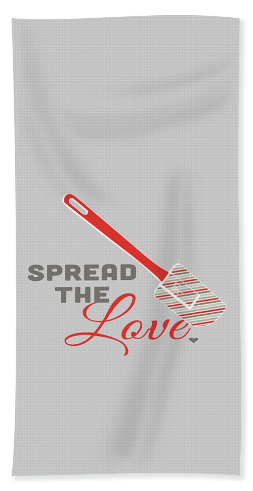 Food Hand Towel featuring the digital art Spread The Love In Red by Nancy Ingersoll