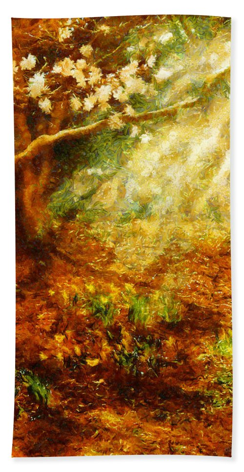 Spring Bath Sheet featuring the photograph Spring - A Sign Of Spring by Mike Savad