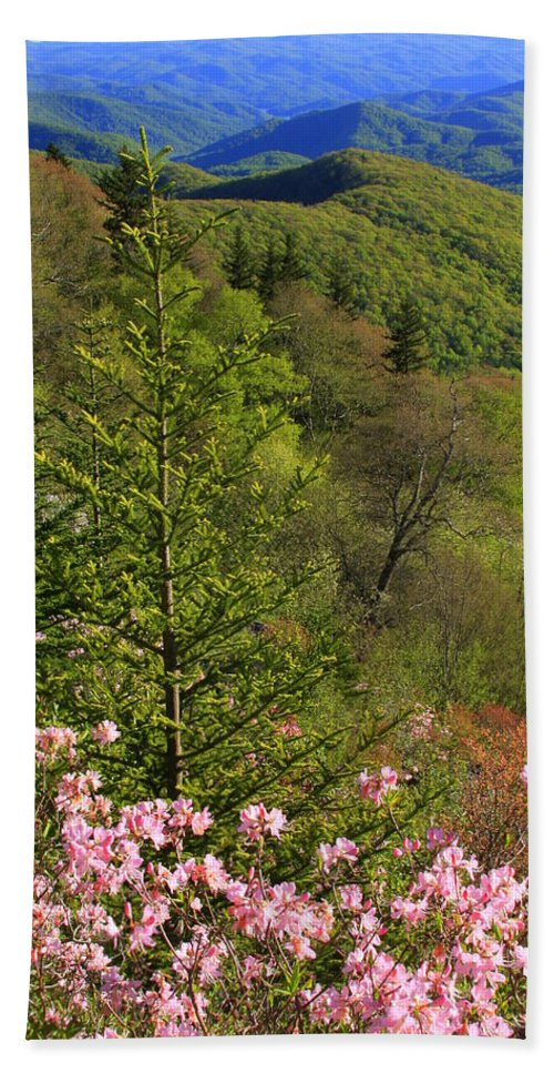 Blue Ridge Parkway Hand Towel featuring the photograph Spring Along The Blue Ridge by Mountains to the Sea Photo